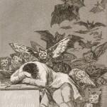 (Goya) El sueño de la razon produce monstruos, 1796-1797. Seattle Art Museum