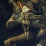 (Goya) Saturn Devouring One of His Sons, 1819-1823. Museo Nacional del Prado